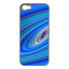 Oval Ellipse Fractal Galaxy Apple Iphone 5 Case (silver)