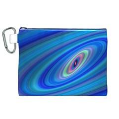Oval Ellipse Fractal Galaxy Canvas Cosmetic Bag (xl)