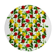 Rose Pattern Roses Background Image Ornament (round)