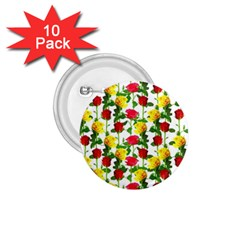 Rose Pattern Roses Background Image 1 75  Buttons (10 Pack)