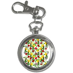 Rose Pattern Roses Background Image Key Chain Watches