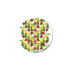 Rose Pattern Roses Background Image Golf Ball Marker (10 Pack)