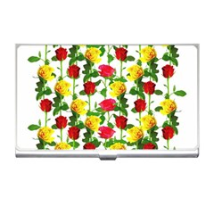 Rose Pattern Roses Background Image Business Card Holders