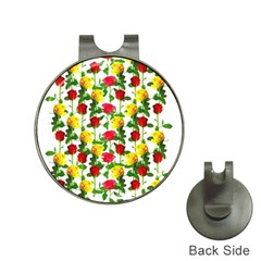 Rose Pattern Roses Background Image Hat Clips With Golf Markers