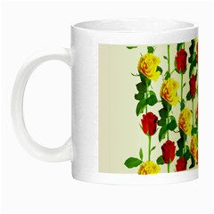 Rose Pattern Roses Background Image Night Luminous Mugs