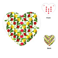 Rose Pattern Roses Background Image Playing Cards (heart)