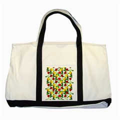 Rose Pattern Roses Background Image Two Tone Tote Bag