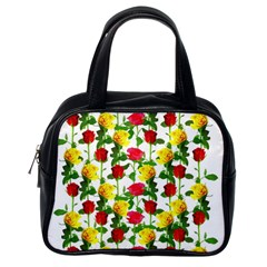 Rose Pattern Roses Background Image Classic Handbags (one Side)