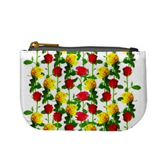 Rose Pattern Roses Background Image Mini Coin Purses