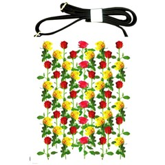 Rose Pattern Roses Background Image Shoulder Sling Bags