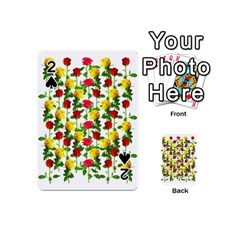 Rose Pattern Roses Background Image Playing Cards 54 (mini)