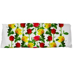 Rose Pattern Roses Background Image Body Pillow Case Dakimakura (two Sides)