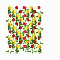 Rose Pattern Roses Background Image Small Garden Flag (two Sides)