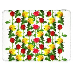 Rose Pattern Roses Background Image Samsung Galaxy Tab 7  P1000 Flip Case