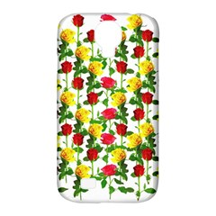 Rose Pattern Roses Background Image Samsung Galaxy S4 Classic Hardshell Case (pc+silicone)