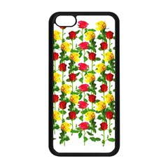 Rose Pattern Roses Background Image Apple Iphone 5c Seamless Case (black)