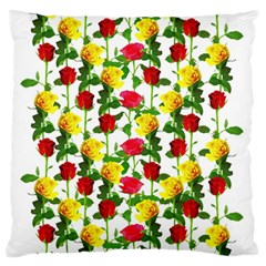 Rose Pattern Roses Background Image Standard Flano Cushion Case (two Sides)