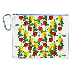 Rose Pattern Roses Background Image Canvas Cosmetic Bag (xxl)