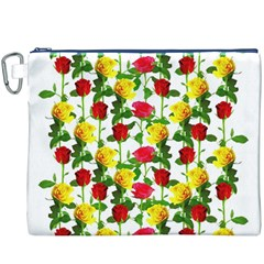 Rose Pattern Roses Background Image Canvas Cosmetic Bag (xxxl)
