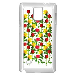Rose Pattern Roses Background Image Samsung Galaxy Note 4 Case (white)