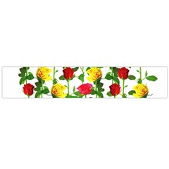Rose Pattern Roses Background Image Flano Scarf (large)