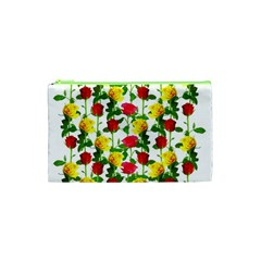 Rose Pattern Roses Background Image Cosmetic Bag (xs)
