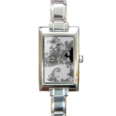 Apple Males Mandelbrot Abstract Rectangle Italian Charm Watch