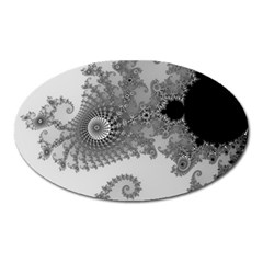 Apple Males Mandelbrot Abstract Oval Magnet
