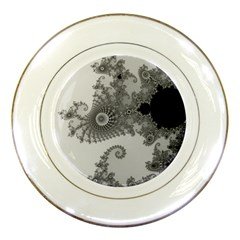 Apple Males Mandelbrot Abstract Porcelain Plates