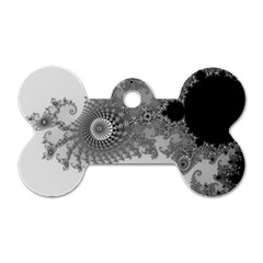 Apple Males Mandelbrot Abstract Dog Tag Bone (one Side)