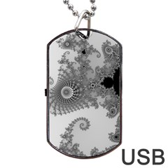 Apple Males Mandelbrot Abstract Dog Tag Usb Flash (two Sides)