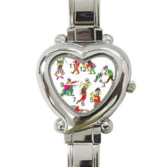 Golfers Athletes Heart Italian Charm Watch
