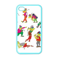 Golfers Athletes Apple Iphone 4 Case (color)