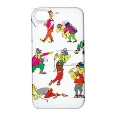 Golfers Athletes Apple Iphone 4/4s Hardshell Case With Stand