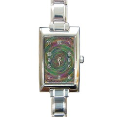 Spiral Spin Background Artwork Rectangle Italian Charm Watch