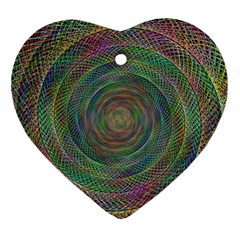 Spiral Spin Background Artwork Ornament (heart)