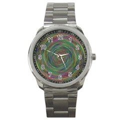 Spiral Spin Background Artwork Sport Metal Watch