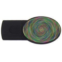 Spiral Spin Background Artwork Usb Flash Drive Oval (4 Gb)