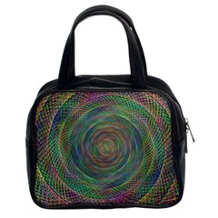 Spiral Spin Background Artwork Classic Handbags (2 Sides)