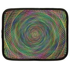 Spiral Spin Background Artwork Netbook Case (xl)