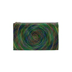Spiral Spin Background Artwork Cosmetic Bag (small)
