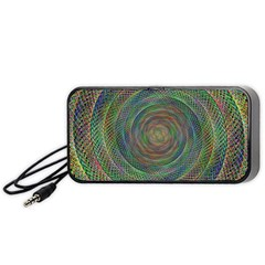 Spiral Spin Background Artwork Portable Speaker (black)