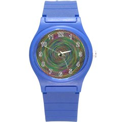 Spiral Spin Background Artwork Round Plastic Sport Watch (s)