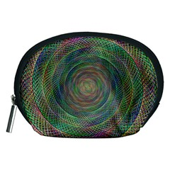 Spiral Spin Background Artwork Accessory Pouches (medium)