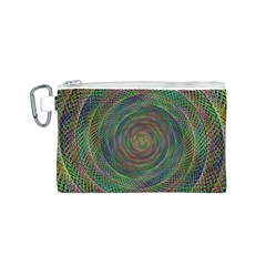 Spiral Spin Background Artwork Canvas Cosmetic Bag (s)