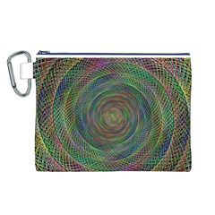 Spiral Spin Background Artwork Canvas Cosmetic Bag (l)