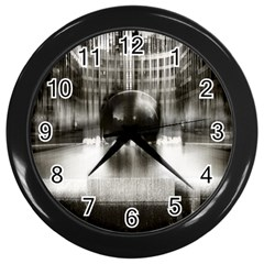 Black And White Hdr Spreebogen Wall Clocks (black)