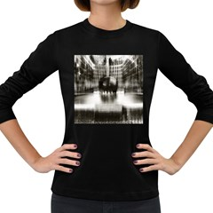 Black And White Hdr Spreebogen Women s Long Sleeve Dark T Shirts