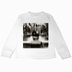 Black And White Hdr Spreebogen Kids Long Sleeve T Shirts