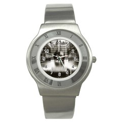Black And White Hdr Spreebogen Stainless Steel Watch